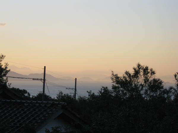 2階からは琵琶湖が見える